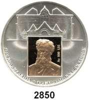 AUSLÄNDISCHE MÜNZEN,Russland Russische Föderation seit 19913 Rubel 2006 (Inlay aus Gold).  150 Jahre Tretjakow-Galerie, Moskau.   Parch. 1154.  Schön 960.  Y. 1046.
