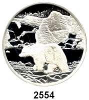 AUSLÄNDISCHE MÜNZEN,Kanada  20 Dollars 2006.  Kanadische Nationalparks - Eisbär am Nahanni Fluß.  Schön 676.  KM 663.  Im Originaletui mit Zertifikat.