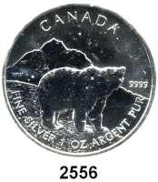AUSLÄNDISCHE MÜNZEN,Kanada  5 Dollars 2011 (Silberunze).  Graubär.  Schön 1043.  KM 1109.