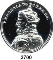 AUSLÄNDISCHE MÜNZEN,Polen  50 Zlotych 2013 (2 Unzen Silber).  König Wenzel II..  Fischer K 002.  Y. 860.  Im Originaletui mit Zertifikat.