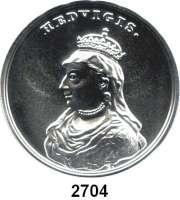 AUSLÄNDISCHE MÜNZEN,Polen  50  Zlotych 2014 (2 Unzen Silber).  Hedwig von Anjou.  Fischer K 006.  Y. 914.  Im Originaletui mit Zertifikat.