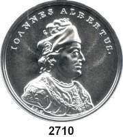 AUSLÄNDISCHE MÜNZEN,Polen  50  Zlotych 2016 (2 Unzen Silber).  Johann I. Albrecht.  Fischer K 010.  Y. 962.  Im Originaletui mit Zertifikat.