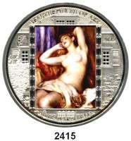 AUSLÄNDISCHE MÜNZEN,Cook Islands  20  Dollars mit aufgeklebten Swarovski-Kristallen 2012.  Meisterwerke der Kunst -