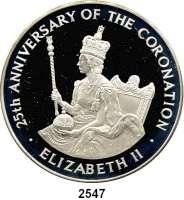 AUSLÄNDISCHE MÜNZEN,Jamaika  25 Dollars 1978.  25. Jahrestag der Krönung von Königin Elizabeth.  Schön 44.  KM 76.  Im Originaletui mit Zertifikat.