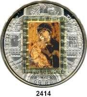 AUSLÄNDISCHE MÜNZEN,Cook Islands  20  Dollars mit aufgeklebten Swarovski-Kristallen 2011.  Meisterwerke der Kunst - Motiv auf Goldbarren (7,75g. fein)
