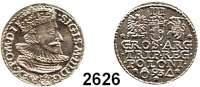 AUSLÄNDISCHE MÜNZEN,Polen Sigismund III. 1587 - 1632 III Groschen 1593, Marienburg.  2,41 g.  Gum. 1012.