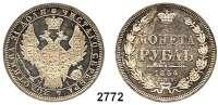 AUSLÄNDISCHE MÜNZEN,Russland Nikolaus I. 1825 - 1855 Rubel 1854, St. Petersburg.  Bitkin 234.  Cr. 168.1.