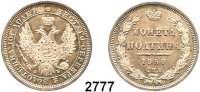 AUSLÄNDISCHE MÜNZEN,Russland Alexander II. 1855 - 1881 Poltina 1858, St. Petersburg.  Bitkin 52.   Cr. 167.1.
