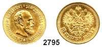 AUSLÄNDISCHE MÜNZEN,Russland Alexander III. 1881 - 1894 10 Rubel 1894, St. Petersburg.  (11,6g fein).  Bitkin 23.  Y. A 42.  Fb. 167.  GOLD