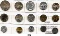 Österreich - Ungarn,Österreich L O T S     L O T S     L O T SLOT von 15 Münzen von 2 Groschen bis 10 Schilling.  Darunter 50 Groschen 1934