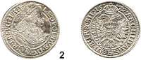 Römisch Deutsches Reich,Haus Habsburg Leopold I. 1657 – 1705 6 Kreuzer 1672 SHS, Breslau. 3,54 g. Herinek 1202
