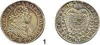 Römisch Deutsches Reich,Haus Habsburg Leopold I. 1657 - 1705 15 Kreuzer 1664 CA, Wien.  6,26 g.  Herinek 924.