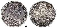 Römisch Deutsches Reich,Haus Habsburg Karl VI. 1711 - 1740 Taler 1736, Hall.  28,94 g.  Herinek 354.  Voglh. 259/V.  Dav. 1055.