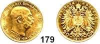 Österreich - Ungarn,Habsburg - Lothringen Franz Josef I. 1848 - 191620 Kronen 1910.  (6,09g fein).  Frühwald 1940.  Schön 23.  KM 2818.  Fb. 509.  GOLD