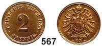 R E I C H S M Ü N Z E N,Kleinmünzen  2 Pfennig 1876 D.