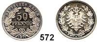 R E I C H S M Ü N Z E N,Kleinmünzen  50 Pfennig 1877 B.