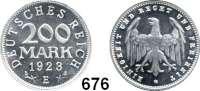 R E I C H S M Ü N Z E N,I.Weltkrieg und Inflation  200 Mark 1923 E.