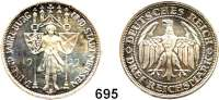 R E I C H S M Ü N Z E N,Weimarer Republik  3 Reichsmark 1929 E.  Meissen.
