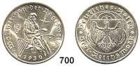 R E I C H S M Ü N Z E N,Weimarer Republik 3 Reichsmark 1930 E.  Vogelweide.