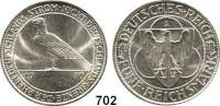 R E I C H S M Ü N Z E N,Weimarer Republik 5 Reichsmark 1930 A.  Rheinlandräumung.