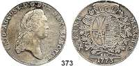 Deutsche Münzen und Medaillen,Sachsen Friedrich August III. 1763 - 1806 (1827) Konventionstaler 1773 EDC, Dresden.  27,96 g.  Kahnt 1074.   Buck 139.  Dav. 2690.