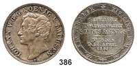 Deutsche Münzen und Medaillen,Sachsen Johann 1854 - 1873 Taler (Münzbesuchstaler) 1855 F, Dresden.  Kahnt 460.  Thun 334.  Jg. 99.  AKS 156.  Dav. 885.