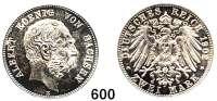 R E I C H S M Ü N Z E N,Sachsen, Königreich Albert 1873 - 1902 2 Mark 1902.