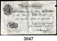 P A P I E R G E L D,AUSLÄNDISCHES  PAPIERGELD GroßbritannienFalsche Pfundnoten - Operation Bernhard.  10 Pfund 18. April 1936 London.  Pick 336 a.