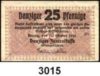 P A P I E R G E L D,D A N Z I G 25 Pfennig 22.10.1923.  Ros. DAN-39.