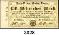 P A P I E R G E L D   -   N O T G E L D,Westfalen Rauxel Amt.  500 Millionen Mark, 1 Milliarde Mark, 5, 10, 20, 50, 100 Milliarden Mark 20.10.1923.  Keller 4451.c.  LOT 7 Scheine.