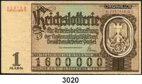 P A P I E R G E L D,Dokumente Originallos zu 1 Mark.  Reichslotterie zur Arbeitsbeschaffung 1935.