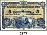 P A P I E R G E L D,D E U T S C H E      K O L O N I E N Deutsch-Ostafrika5 Rupien 15.6.1905.  Ros.  DOA-1.