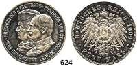 R E I C H S M Ü N Z E N,Sachsen, Königreich Friedrich August III. 1904 - 1918 5 Mark 1909.   Universität Leipzig.