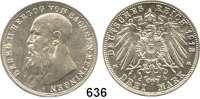 R E I C H S M Ü N Z E N,Sachsen - Meiningen Georg II. 1866 - 1914 3 Mark 1913.