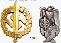 Orden, Ehrenzeichen, Militaria, Zeitgeschichte,Deutschland Drittes Reich SA-Wehrabzeichen an Nadel.  Material Bronze.