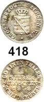 Deutsche Münzen und Medaillen,Sachsen - Weimar - Eisenach Karl Alexander 1853 - 1901 1/2 Silbergroschen 1858 A.  AKS 35.  Jg. 529.