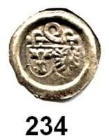 Deutsche Münzen und Medaillen,Brandenburg - Preußen Joachim I. 1499 - 1535 Hohlpfennig o.J., Berlin.  0,22 g.  Bahrfeldt 77.