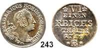 Deutsche Münzen und Medaillen,Preußen, Königreich Friedrich II. der Große 1740 - 1786 1/6 Taler 1754 B, Breslau.  5,27 g.  Kluge 91.2/252.  v.S. 269. Olding 39 b.