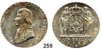 Deutsche Münzen und Medaillen,Preußen, Königreich Friedrich Wilhelm III. 1797 - 1840 Taler 1799 A.  Kahnt 361. Thun 242.  AKS 10.  Jg. 29.  Old. 102 a.  Dav. 755.