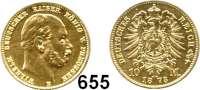 R E I C H S M Ü N Z E N,Preussen, Königreich Wilhelm I. 1861 - 1888 10 Mark 1873 B.
