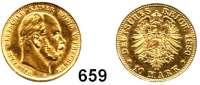 R E I C H S M Ü N Z E N,Preussen, Königreich Wilhelm I. 1861 - 1888 10 Mark 1880 A.