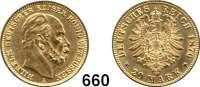 R E I C H S M Ü N Z E N,Preussen, Königreich Wilhelm I. 1861 - 1888 20 Mark 1876 A.
