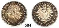R E I C H S M Ü N Z E N,Preussen, Königreich Wilhelm I. 1861 - 1888 2 Mark 1883 A.