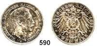 R E I C H S M Ü N Z E N,Preussen, Königreich Wilhelm II. 1888 - 1918 2 Mark 1893.