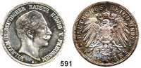 R E I C H S M Ü N Z E N,Preussen, Königreich Wilhelm II. 1888 - 1918 5 Mark 1898.