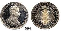 R E I C H S M Ü N Z E N,Preussen, Königreich Wilhelm II. 1888 - 1918 3 Mark 1914.  Kürassier.