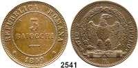 AUSLÄNDISCHE MÜNZEN,Italien Römische Republik 3 Baiocchi 1849 R, Rom.  Kahnt/Schön 3.  KM 23.2.