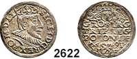 AUSLÄNDISCHE MÜNZEN,Polen Sigismund III. 1587 - 1632 3 Gröscher 1591, Posen.  2,29 g.  Gum. 998.