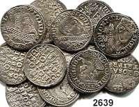 AUSLÄNDISCHE MÜNZEN,Polen Sigismund III. 1587 - 1632 3 Gröscher 1590 Posen; 1592, Posen(2); 1596, Posen; 1596 Olkusz; 1597, Posen; 1597, Olkusz; 1598 Olkusz; 1599, Olkusz; 1599, Posen; 1599 Fraustadt; 1601, Fraustadt.  LOT 12 Stück.