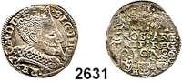 AUSLÄNDISCHE MÜNZEN,Polen Sigismund III. 1587 - 1632 3 Gröscher 1596, Bromberg.  2,21 g.  Gum. 1048.